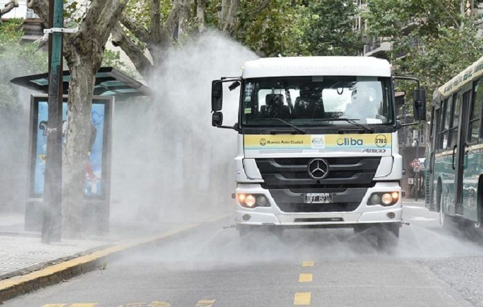 Cliba Lavado y desinfección de calles en CABA