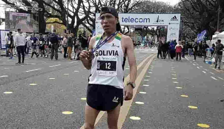 Atleta boliviano Héctor Garibay ganó el Maratón
