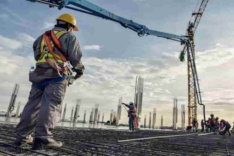 Obrero Obra en construccion
